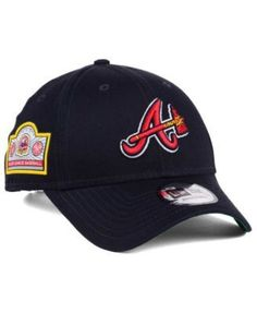 New Era Atlanta Braves Banner Patch 9FORTY Cap - Blue Adjustable Atlanta  Braves da259c74bc5