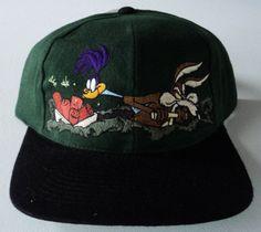Vintage Wile E Coyote & Road Runner Looney Tunes Snapback Hat VTG by StreetwearAndVintage on Etsy Team Shirts, Road Runner, Looney Tunes, Snapback Hats, Vintage Shops, Baseball Hats, Cotton, Etsy, Fashion