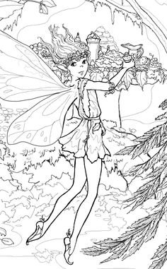 FAIRY COLORING PAGES  Coloring Pages  Pinterest  Coloring