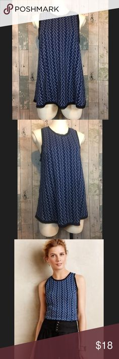 NWOT Textured Swing Tank by Postmark New without tags! Tank is 25 inches in length. Armpit to armpit is 17 inches. Zippers up in back. 66% polyester, 32% rayon and 2% spandex. Smoke free and pet free home! Anthropologie Tops Tank Tops