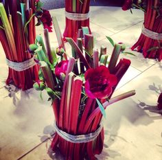 Rhubarb and peonies in perfect harmony! Get ready for Dutch Rhubarb Week 2014!