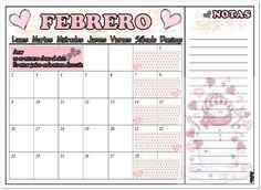 #Febrero #2015 #Printable #Free (1) #con #notas