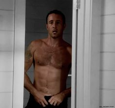 On the talk show Ellen in May last year it was mentioned that Alex frequently loses his shirt as Steve McGarrett in Hawaii Five-0. Of course for me that was the biggest joke I heard all year. &#823…