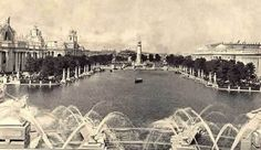 """This is a view of the Grand Basin of the 1904 Saint Louis World's Fair.  You can still see the Grand Basin in Forest Park.  It looks magical at twilight.  NOTE: interest in the World's Fair runs high - Forest Park Community College has a continuing education class called """"Re-Living the 1904 World's Fair."""""""