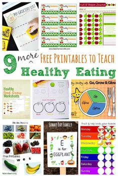Help kids learn about making healthy food choices with these free printables! Make learning about nutrition fun for kids with these healthy eating activities, all with free printables. These activities are perfect for a school nutrition unit or for families.