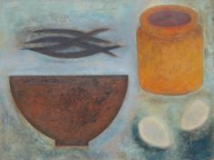 Pot, Bowl, Beans and Eggs  by Vivienne Williams