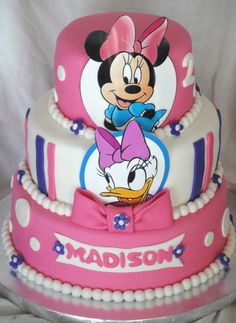 Minnie Mouse  Daisy Duck Birthday Celebration Cakes