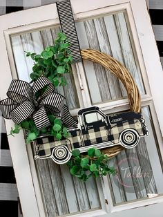 Im still in love with the Vintage Truck! (Link in the Bio) Dollar Tree Decor, Dollar Tree Crafts, Dollar Tree Fall, Fall Crafts, Christmas Crafts, Christmas Ideas, Willow Wreath, Wood Crafts, Diy Crafts