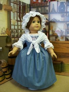1774 Work Gown, Fichu, Lace Mob Cap by Keepersdollyduds, via Flickr