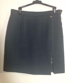 Roberta Di Camerino Grey Floral Skort Skirt #RobertaDiCamerino #Skort