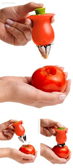 Hullster tomato corer! Clever kitchen gadget #product_design