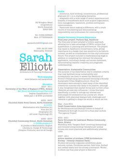 CV by Sarah Elliott, via Behance