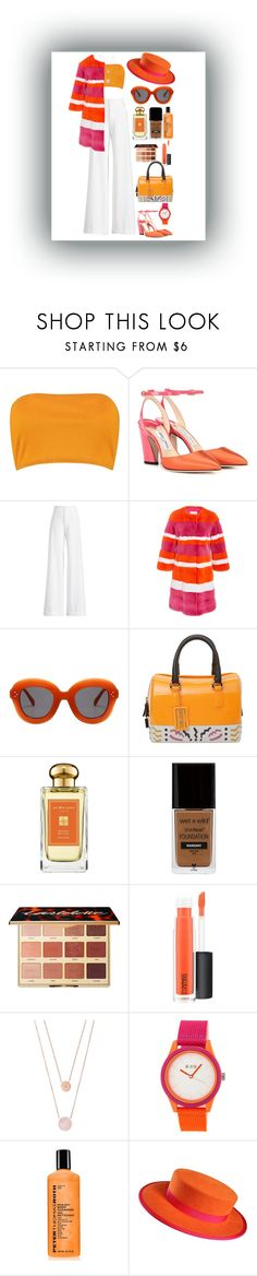 """Orange Crush🔶️"" by ohsoqueenish ❤ liked on Polyvore featuring Boohoo, Jimmy Choo, Ralph Lauren Collection, Furla, Jo Malone, ULTA, MAC Cosmetics, Michael Kors, Crayo and Peter Thomas Roth"