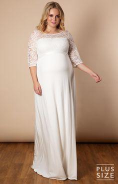 c08ee1599e4d87 Bohemian bruidsjurk voor zwangere bruiden