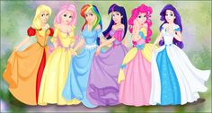 My Little Pony Princesses by madam-marla.deviantart.com on @deviantART