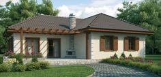 Plano de casa rustica de 1 piso con 3 dormitorios