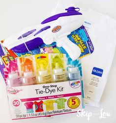 How to Tie Dye with Water Guns