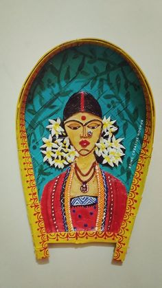 35 Ideas for diy art decor canvas etsy Madhubani Art, Madhubani Painting, Pottery Painting, Fabric Painting, Worli Painting, Indian Folk Art, Indian Diy, Indian Crafts, Stone Wall Design