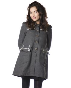Hello Holiday · Moby Coat in Grey Winter Coat, Pretty Outfits, Preppy, How To Wear, Xmas, Jackets, Clothes, Collection, Fall