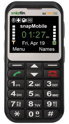 Snapfon ezTWO Senior Cell Phone, Easy to Use, Bluetooth, Hearing Aid Compatible Old Cell Phones, Cell Phones In School, Cheap Cell Phones, Cell Phone Deals, Cell Phone Service, Cell Phone Wallet, Best Mobile Phone, Best Cell Phone, Cell Phones For Seniors