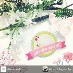 Petit aperçu de notre nouvelle collection Jardin Secret par @basiccrea2 :). #scrap #doityourself #scrapbooking #diy #paper #flowers #butterfly #papillon #spring #printemps