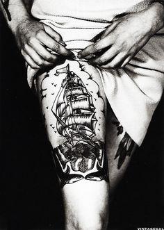 Member of the Bristol Tattoo Club, Great Britain, 1950's