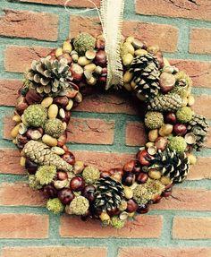 Krans van natuurlijke materialen, heerlijk herfst!