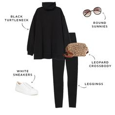 6 Outfits to Wear With Leggings This Weekend (The Everygirl) Chic Outfits, Winter Outfits, Fashion Outfits, Work Outfits, Best Casual Outfits, Cozy Fashion, Minimal Fashion, School Outfits, Legging Outfits