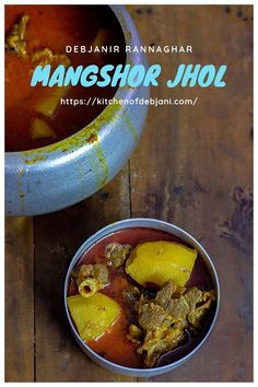 Mangshor jhol aka Bengali Mutton Curry recipe step by step with pictures Goat Recipes, Veg Recipes, Curry Recipes, Lunch Recipes, Indian Food Recipes, Chicken Recipes, Cooking Recipes, Bangladeshi Food, Bengali Food