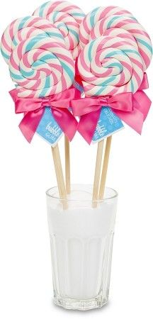 Pink and Blue Lollipop Centerpiece