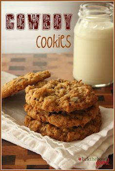 Cowboy Cookies...loaded with lots of oatmeal, chocolate chips, coconut & pecans.  Yummy!