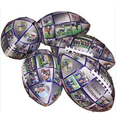 Our regulation size Photo Football holds up to 32 panels of your best photos and text.  A unique custom gift for your football coach, a great teammate or a fanatical football fan.