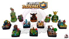 Full Collection Arenas   Clash Royale   Polymer Clay