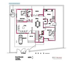 bedroom house  Smart home and Kerala on PinterestImage detail for  Modern house plan   Sq  Ft   Kerala home design