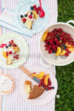 Summer trifle ~ I believe trifle is traditionally layers of liquor soaked cake, fruit and whipped cream, so... all of these lovely ingredients, but layered = yum