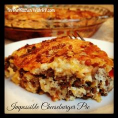 In The Kitchen With KP Impossible Cheeseburger Pie #SundaySupper #BakeForACure - In The Kitchen With KP