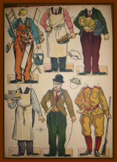 "Charlie Chaplin paper dolls | Chaplin Is ""For The Ages"", Vintage Charlie Chaplin Paper Doll ~"
