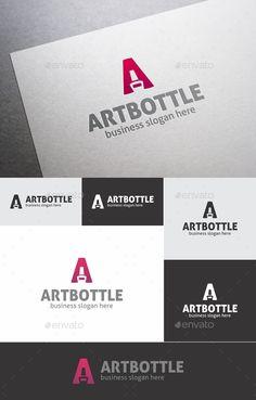 Nail Polish Bottle Letter A Logo — Vector EPS #letter #varnish • Available here → https://graphicriver.net/item/nail-polish-bottle-letter-a-logo/17965970?ref=pxcr