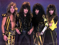 Stryper - The Yellow and Black Attack!  These guys were the Tim Tebow of the Hair Bands.  Why does everybody gotta hate?  Hey, check out the giant calculator on Oz Fox's arm!!