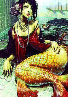 undulateundulateundulate:    FFFFOUND! | dead girls  goddamnit, I love mermaids.