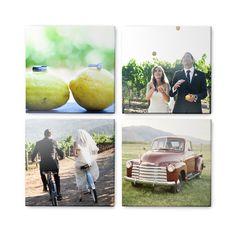 Custom mounted wall art celebrates the fun wedding moments through non-traditional framing | Shutterfly.com