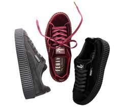 Discover the Puma By Rihanna Suede Creepers Black Grey Burgundy 2017 New Super Deals collection at Footseek. Shop Puma By Rihanna Suede Creepers Black Grey Burgundy 2017 New Super Deals black, grey, blue and more. Rihanna Creepers, Puma Creepers, Fenty Creepers, Women's Shoes, Pumas Shoes, Cute Shoes, Me Too Shoes, Fenty Puma, Adidas Women