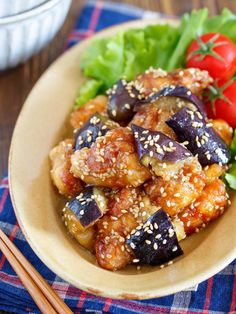 Cooking For Kids Wine Recipes, Asian Recipes, Cooking Recipes, Healthy Recipes, Ethnic Recipes, Cooking Eggplant, Eggplant Recipes, Cafe Food, Food Menu