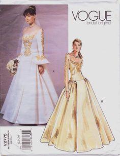 Vogue Bridal Original Pattern V2775 Womens by CloesCloset on Etsy, $18.00