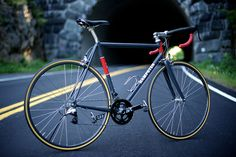 Hampsten Cycles Team UOS Special with very nice details, especially the design art and mastery of the feame.  Starting at $3000...