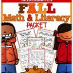 Fall Math and Literacy Packet (Kindergarten)!