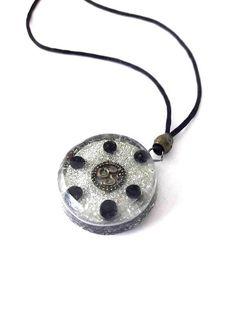 Orgonite pendant-SHUNGIT by ORGONITHEKA on Etsy