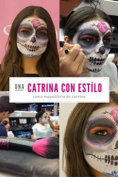 Maquillaje de Catrina para el Día de Muertos.