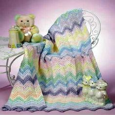 Rainbow Sherbet Baby Blanket free crochet pattern
