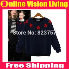 New Arrived 2015 Fashion Hi-end autumn and winter star sweater women pullovers sweaters long sleeve  round neck knitwear A0723